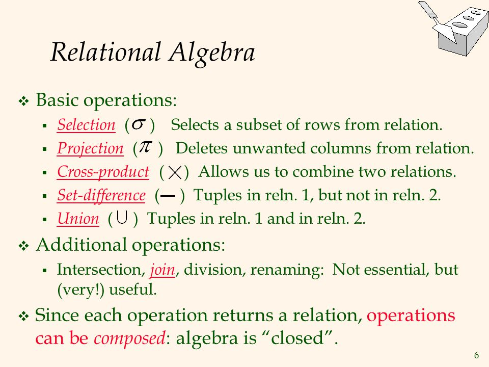 27 Relational Calculus  Comes in two flavors: Tuple relational calculus (TRC) and Domain relational calculus (DRC).
