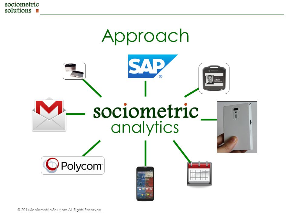 © 2014 Sociometric Solutions All Rights Reserved. Approach analytics
