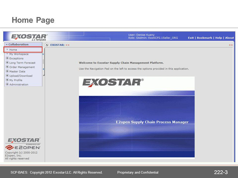 Home Page SCP-BAES: Copyright 2012 Exostar LLC.