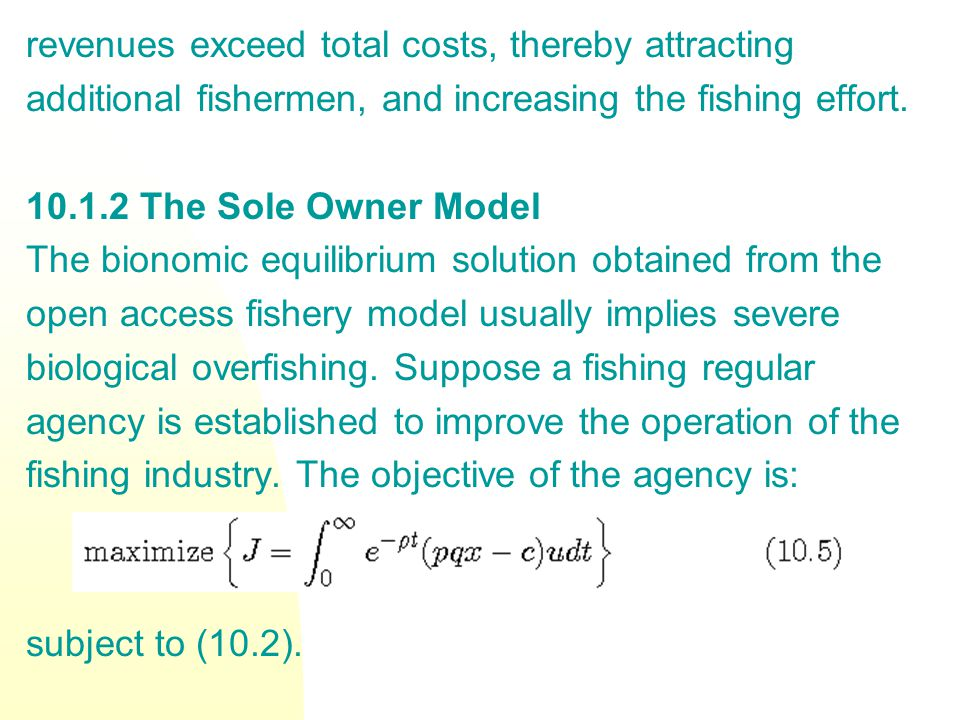 Subcase 2b Here the optimal price trajectory is where (T) is to be obtained from the transcendental equation in Figure 10.9