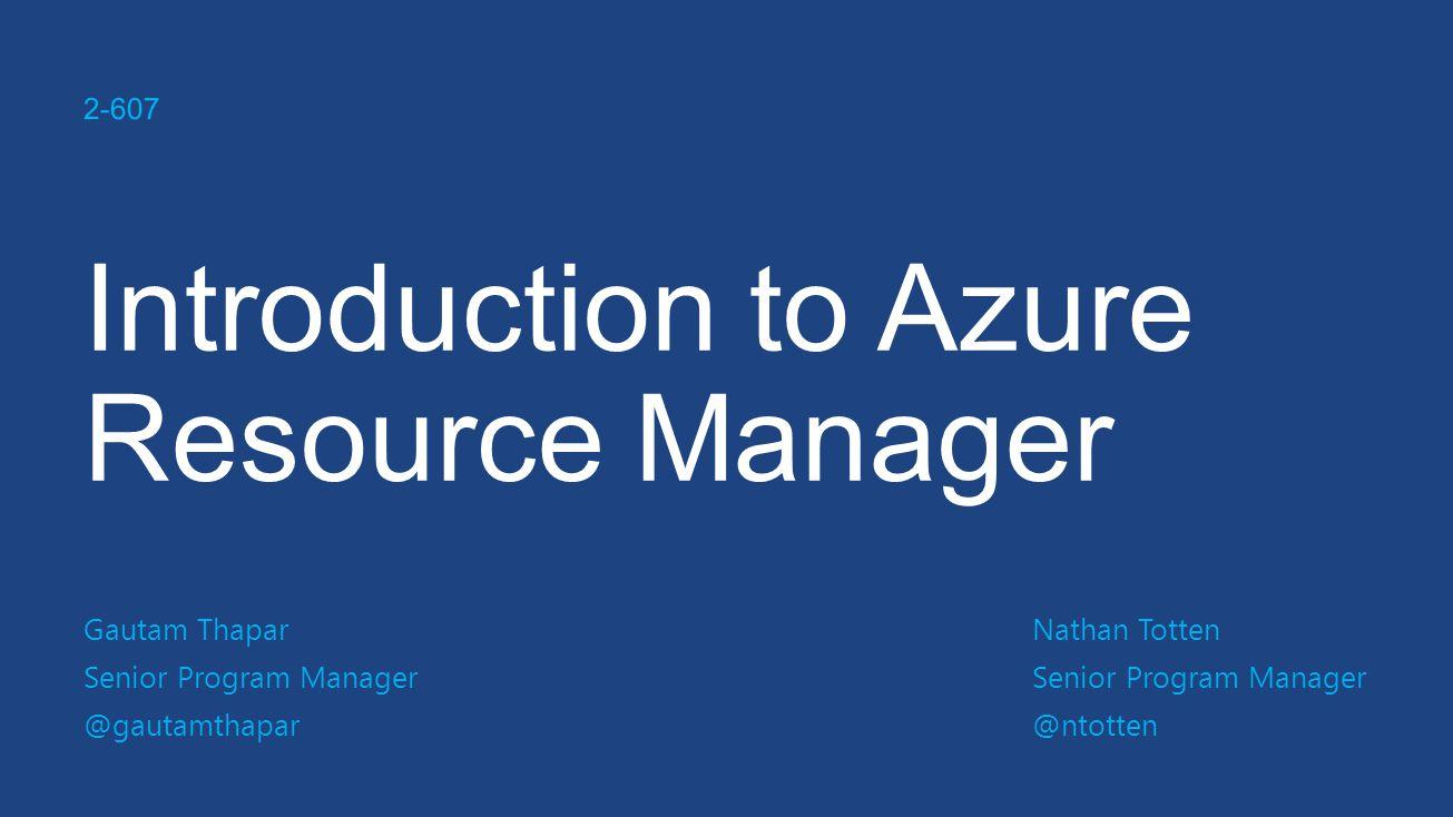 Azure @ //build Consistent Management Layer