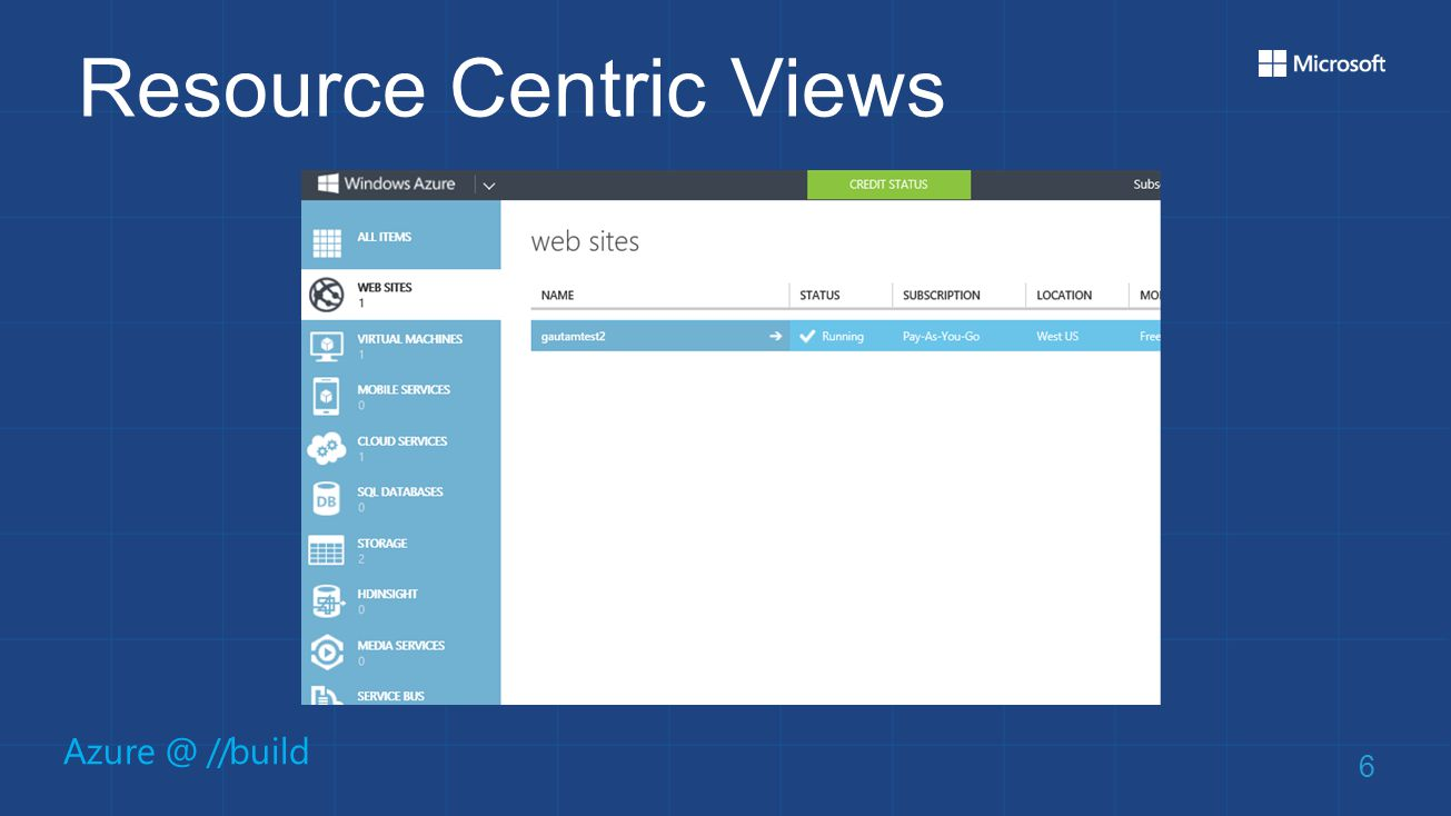 Azure @ //build Resource Centric Views 6