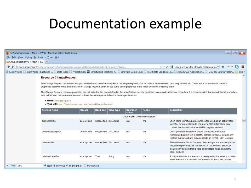 Documentation example 7