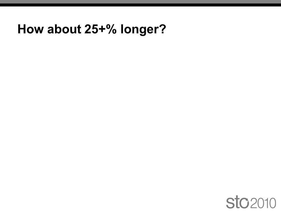 How about 25+% longer