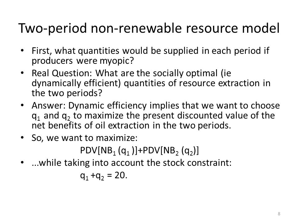 First, what quantities would be supplied in each period if producers were myopic.