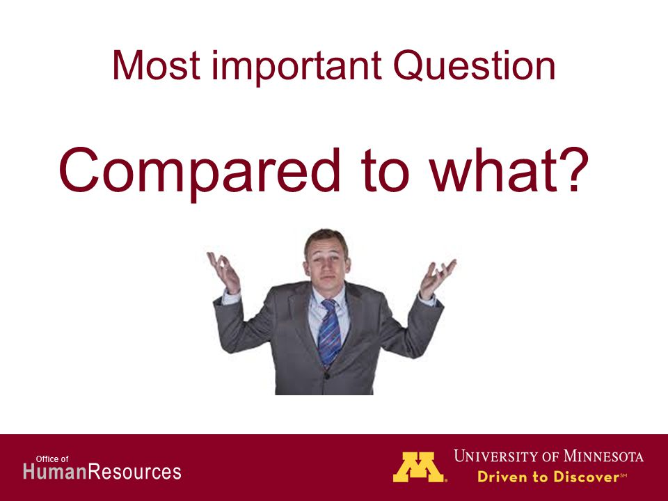 Human Resources Office of Most important Question Compared to what?