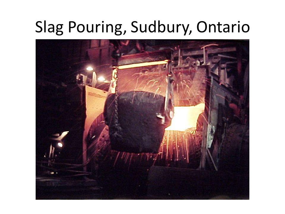 Slag Pouring, Sudbury, Ontario