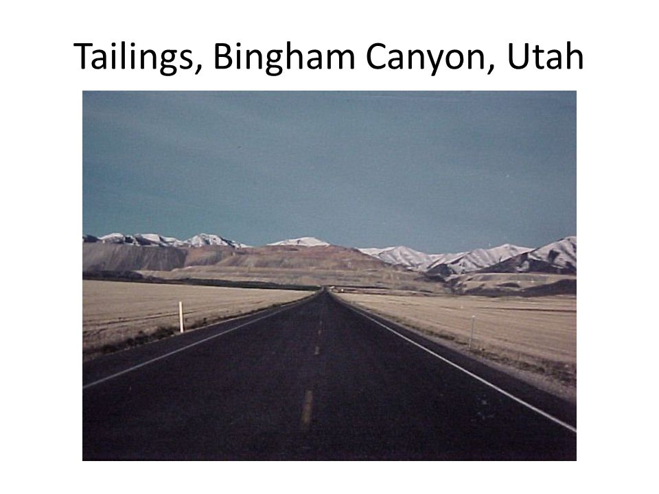 Tailings, Bingham Canyon, Utah