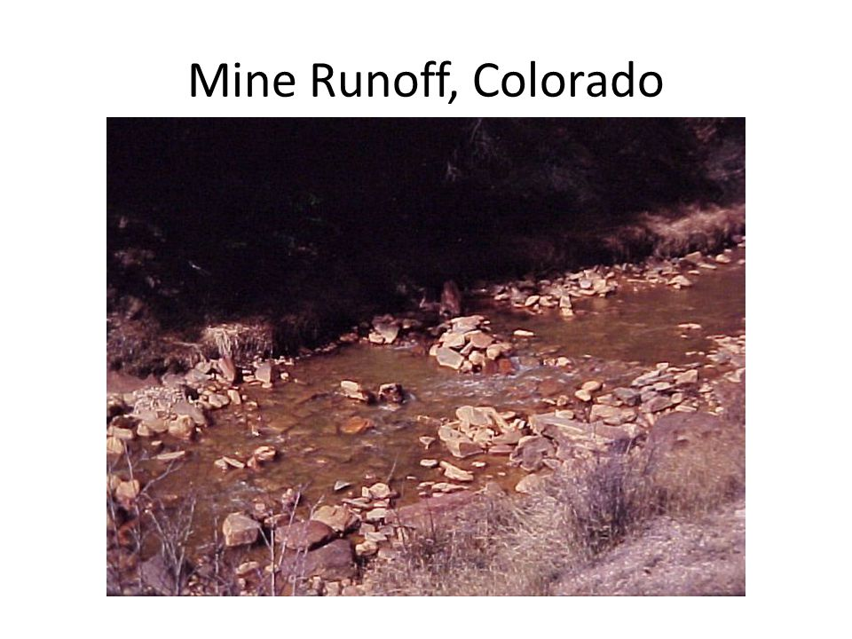 Mine Runoff, Colorado