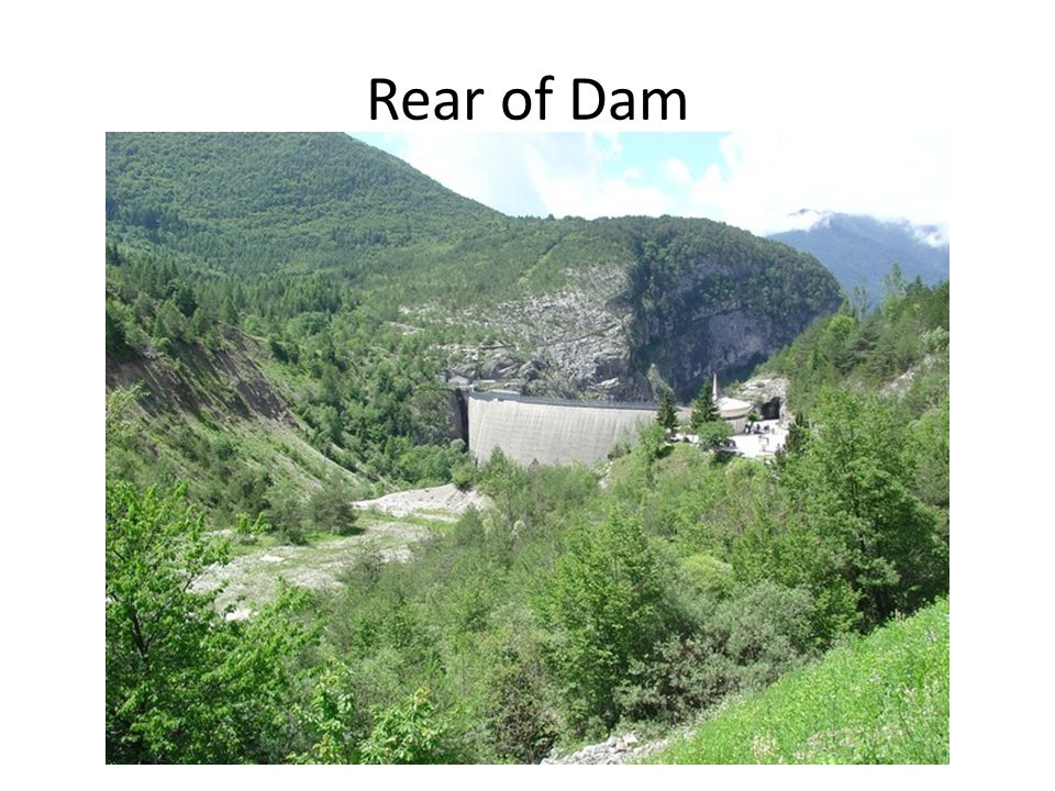 Rear of Dam