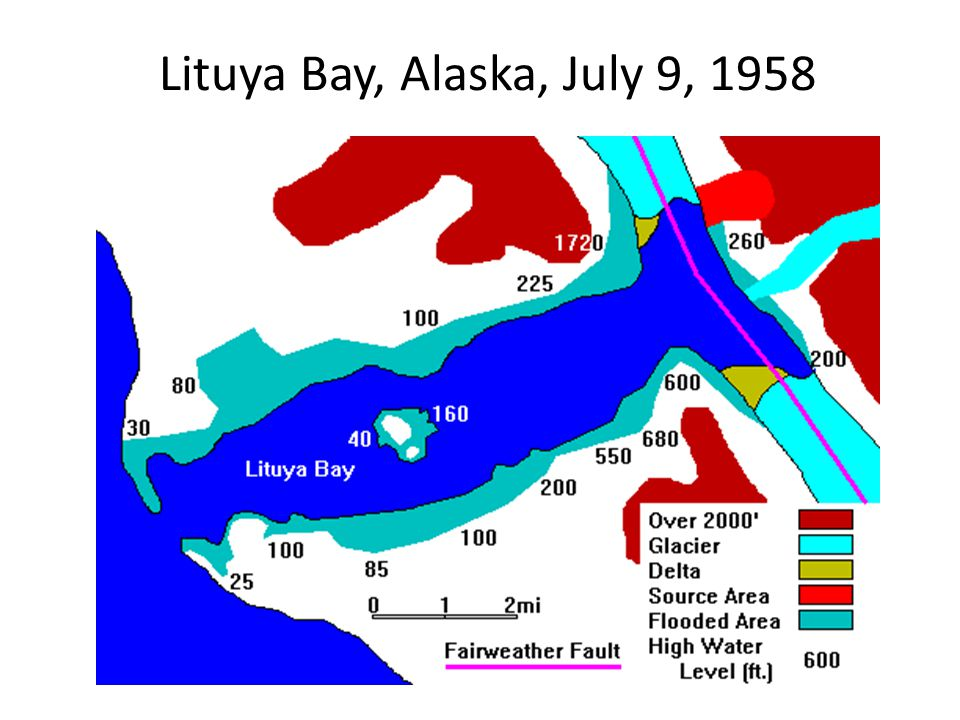 Lituya Bay, Alaska, July 9, 1958
