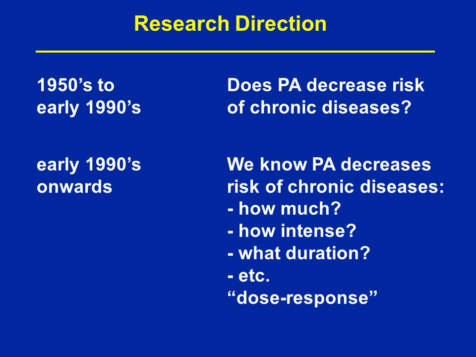 Describes the change in effect … caused by differing levels of exposure to a stressor ; central to determining safe and hazardous levels for drugs and pollutants (Wikipedia) PubMed search for dose response and exercise – studies as far back as 1967, but mainly related to drug effects; e.g., effect of beta- blocker on exercise tolerance in angina patients In the mid-1980's, we begin to see the term used for the study of different doses of PA .