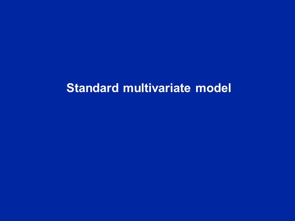 Standard multivariate model
