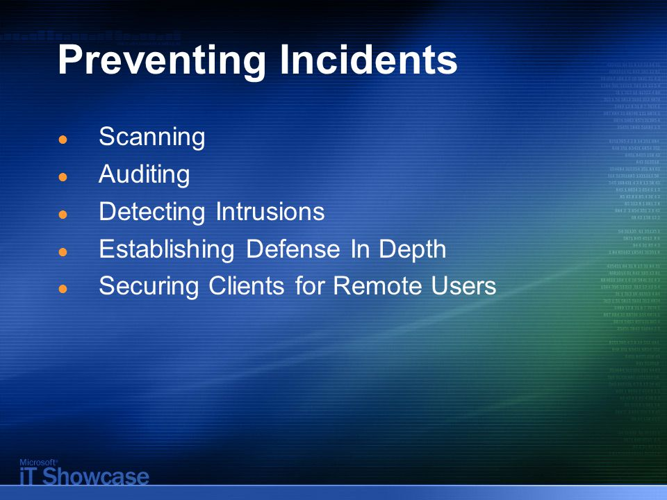 Defending Against Internet- Facing Server Attacks ● Systems in the perimeter network are usually the first to be attacked ● In the event of an Internet-facing server attack against the Microsoft network or other domain properties, the incident response plan takes effect ● The response is tailored to an attack on an Internet-facing server