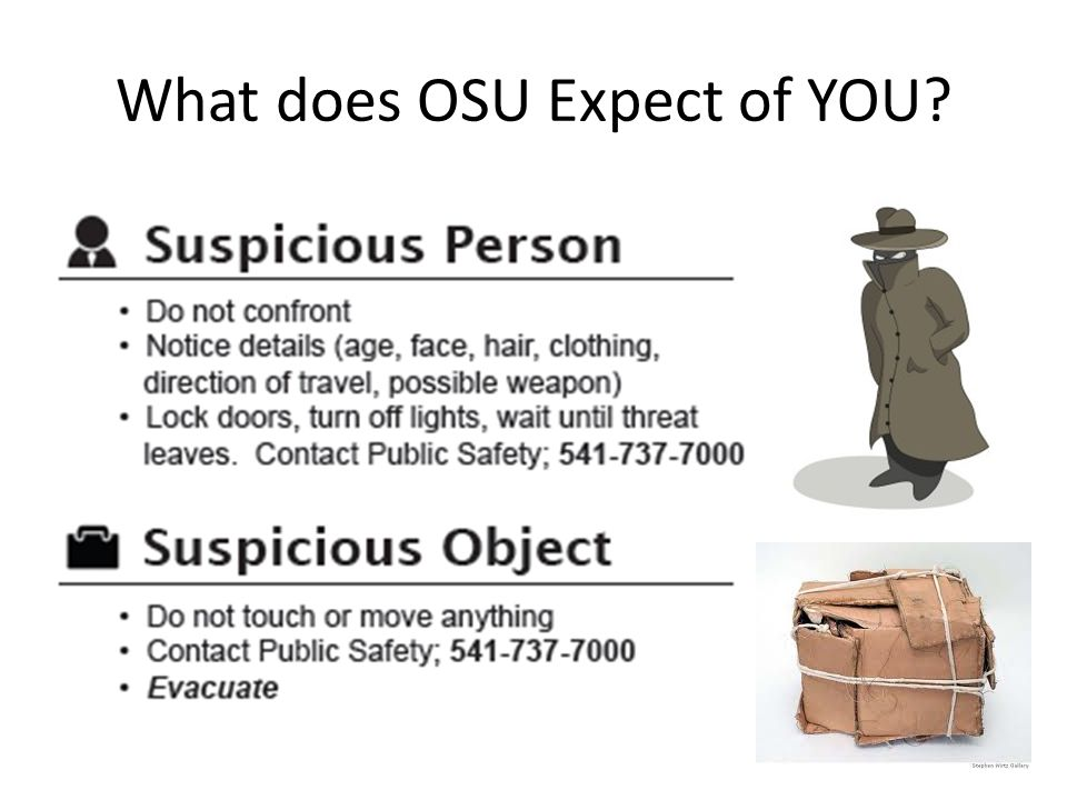 What does OSU Expect of YOU