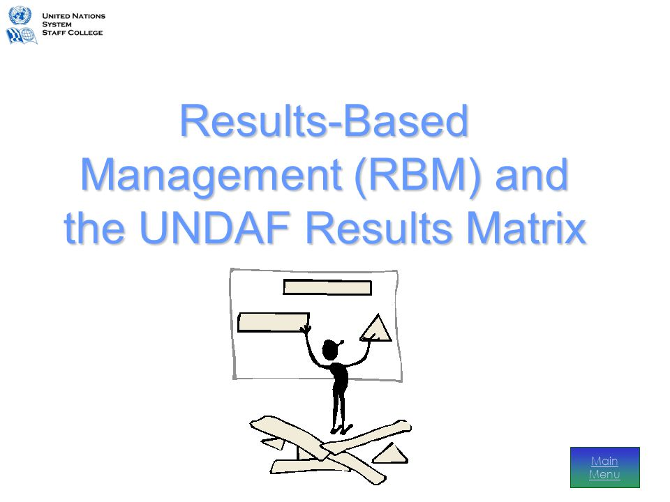 UNDAF Results Before… There was an agreed plan, but each agency implemented individually – the UNDAF was driven by agency mandates and became fragmented… business as usual And now… There is a single matrix within the UNDAF that links the strategic contribution of UN agencies' country programmes to targeted national priorities