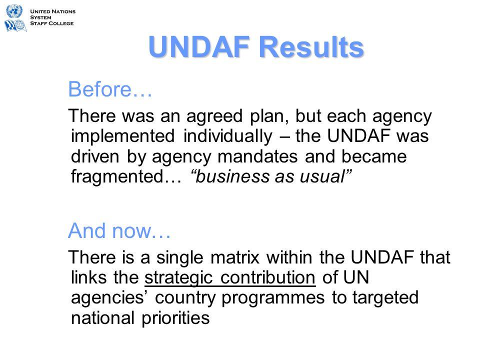 Table 1:UNDAF M&E Framework OutcomesIndicators (w.