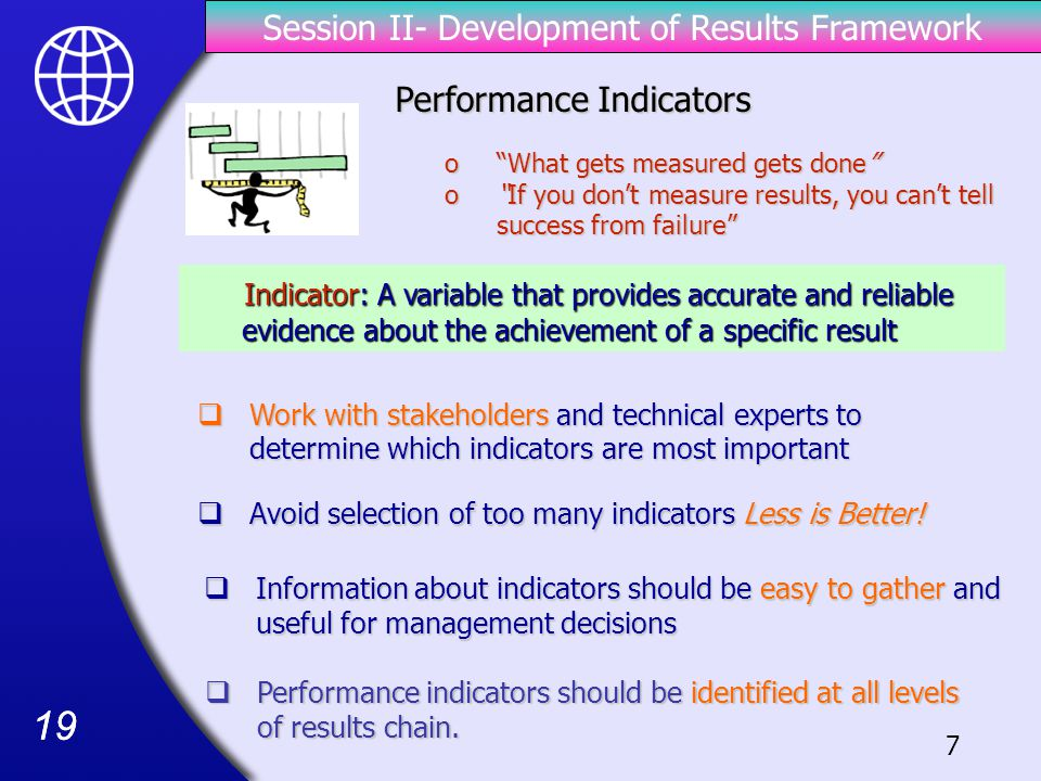 19  Avoid selection of too many indicators Less is Better.