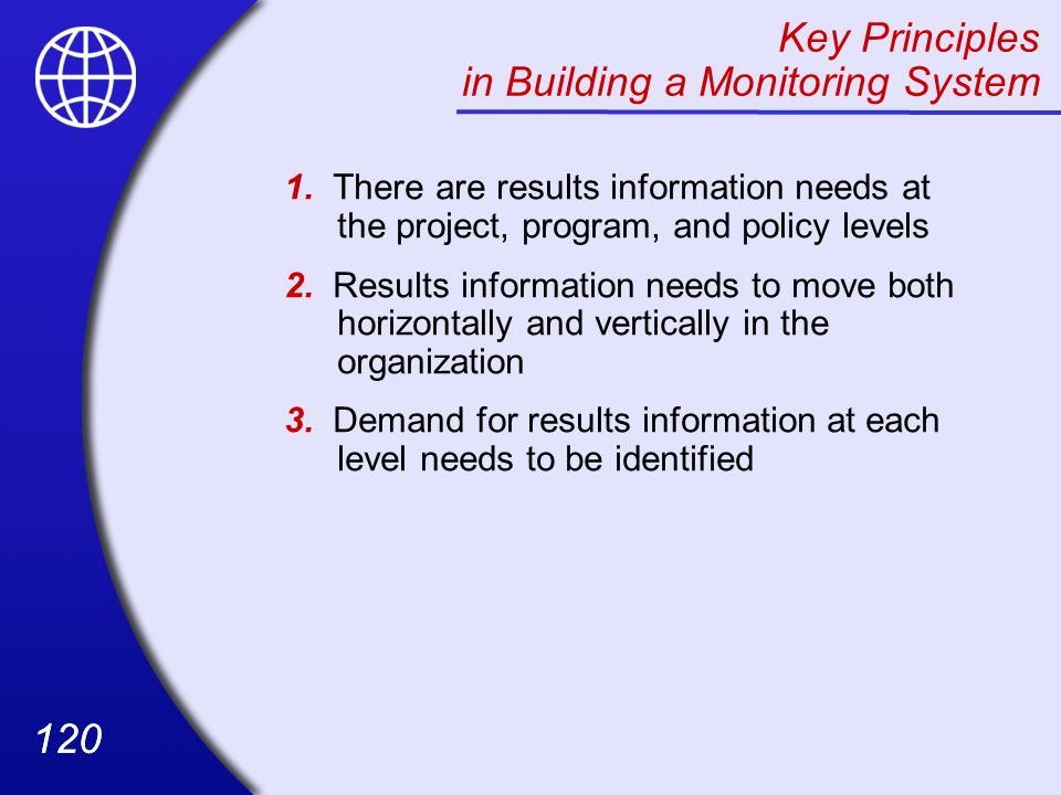 120 Key Principles in Building a Monitoring System 1.