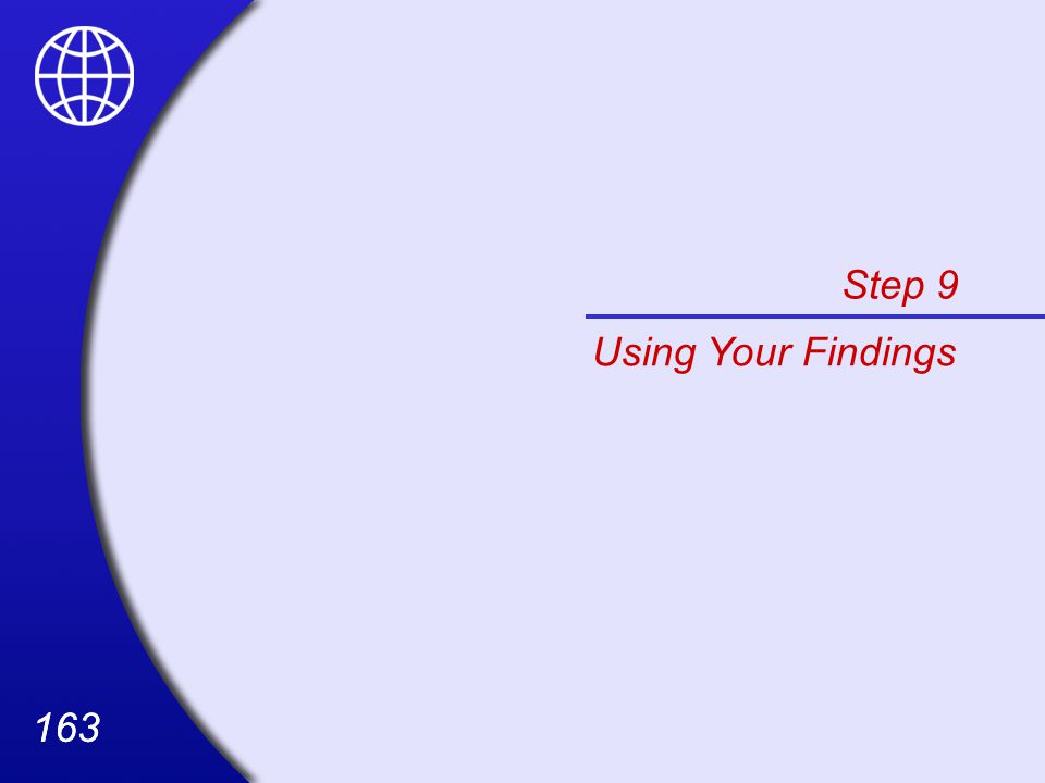 163 Step 9 Using Your Findings
