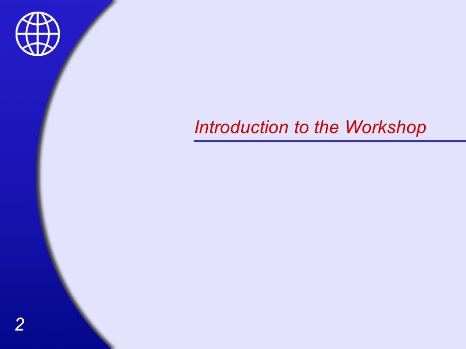 22 Introduction to the Workshop