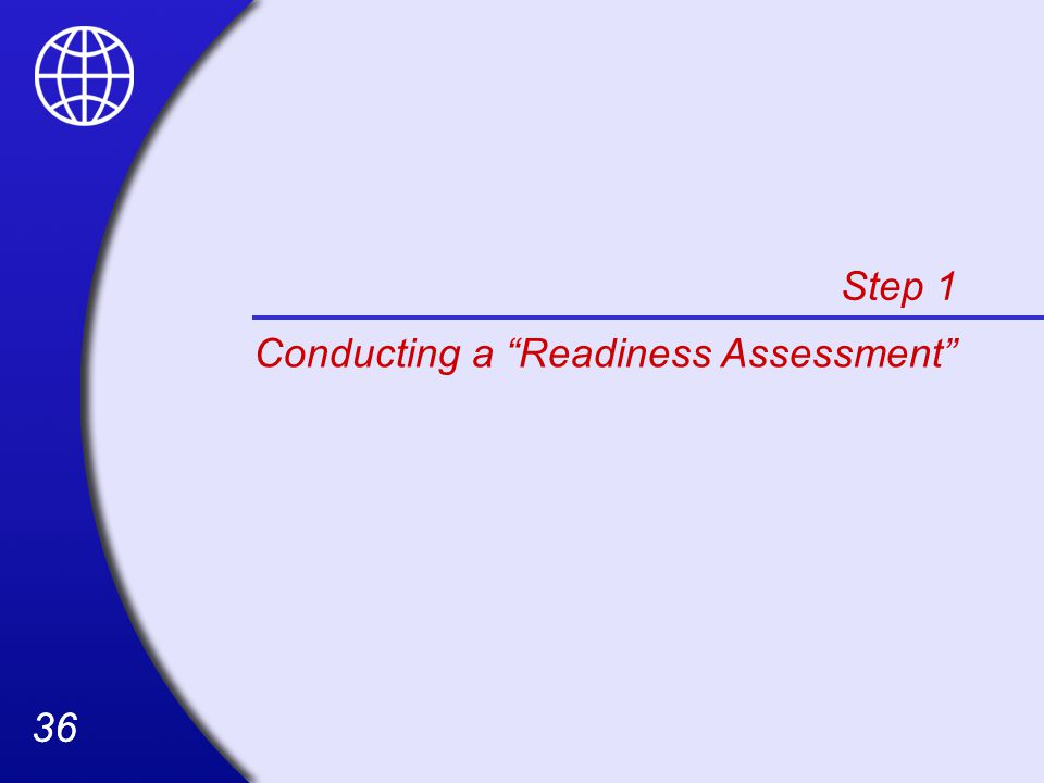 36 Step 1 Conducting a Readiness Assessment