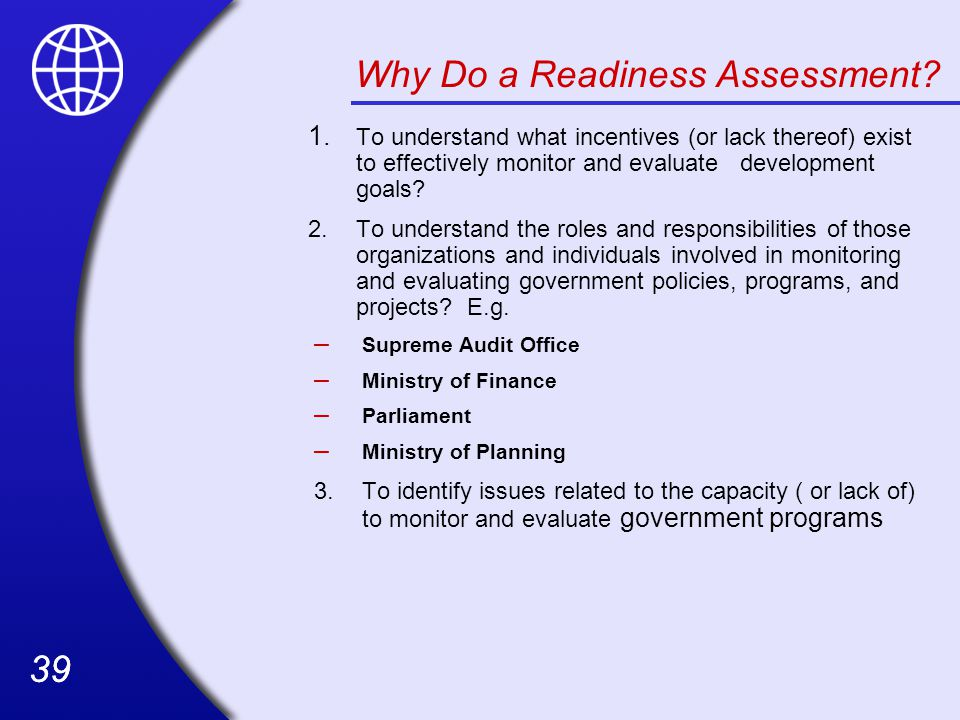 39 Why Do a Readiness Assessment.1.