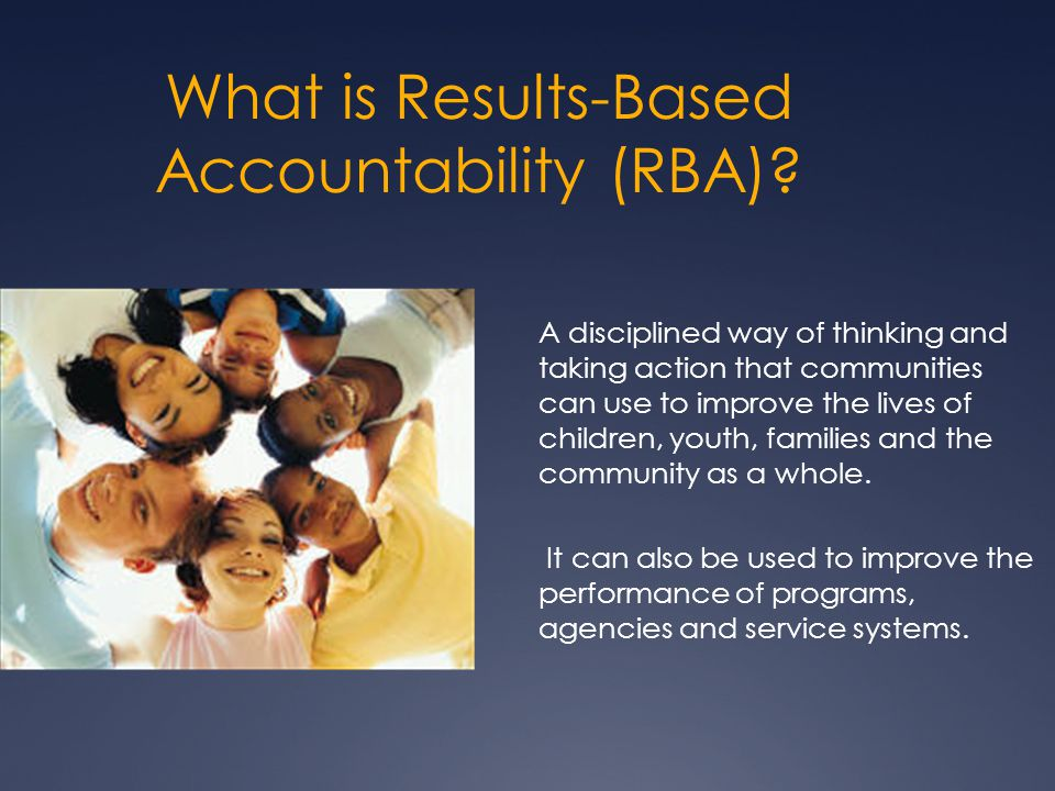 What is Results-Based Accountability (RBA).