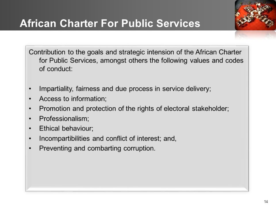 14 African Charter For Public Services