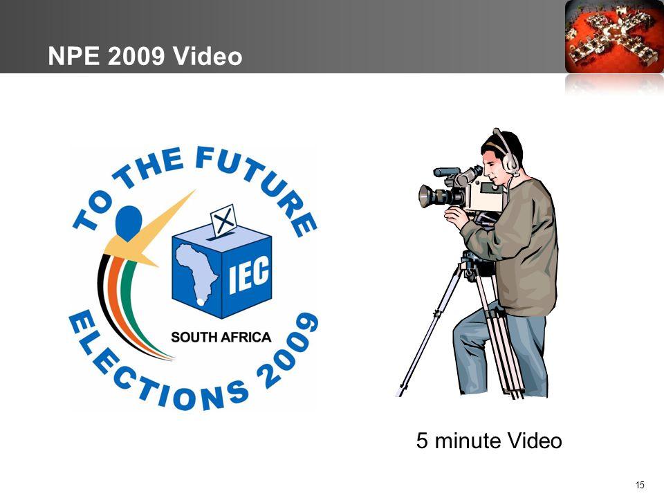 NPE 2009 Video 5 minute Video 15
