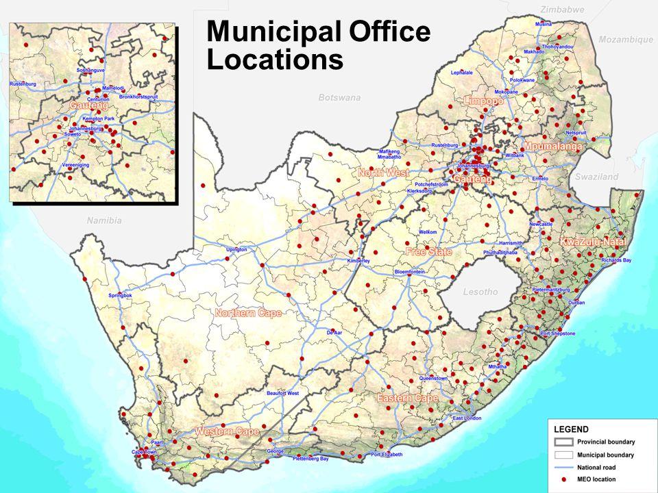 7 Municipal Office Locations