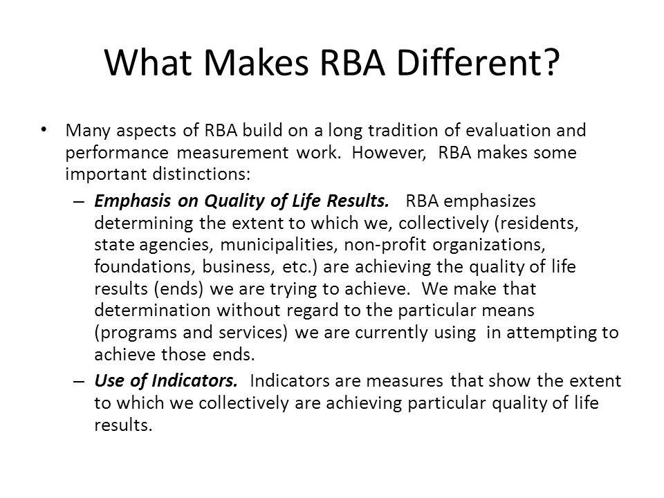 What Makes RBA Different.