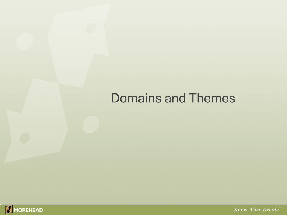 Domains and Themes