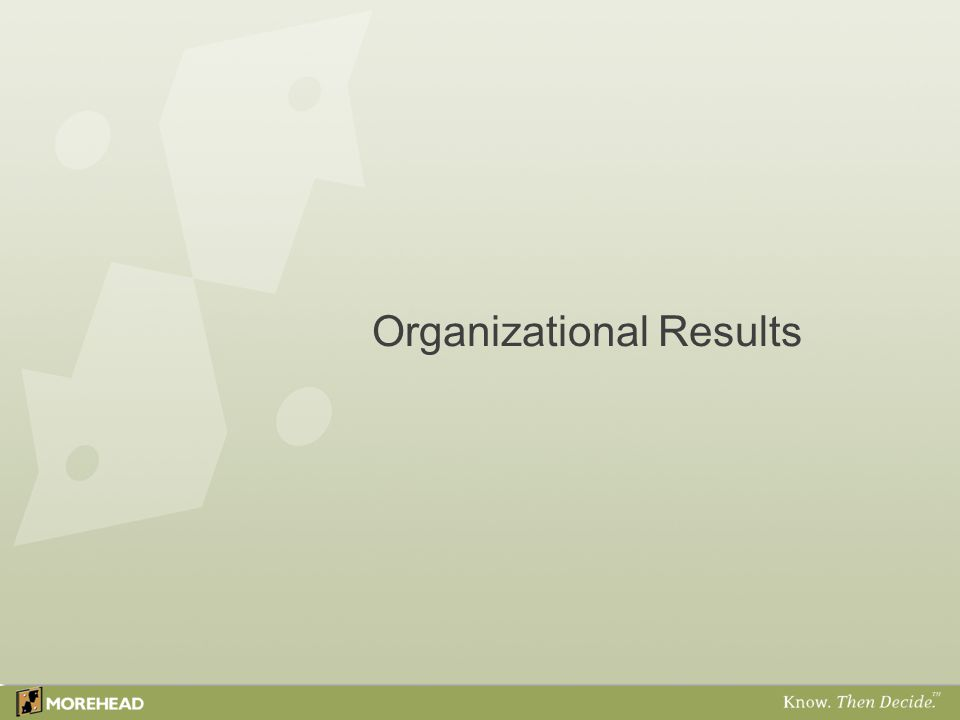 Morehead's Model of Workforce Commitment ™ 30 High Performance Organization Workforce Commitment Organization Domain Manager Domain Employee Domain Tier Score