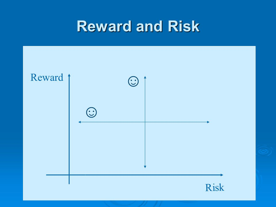 Reward and Risk Risk Reward ☺ ☺