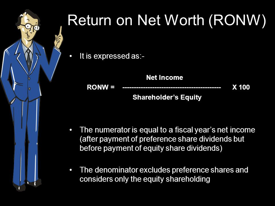Example… A company's net income for the year was Rs.