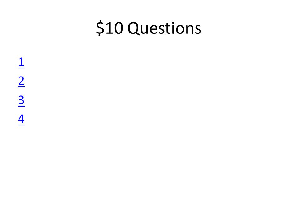 $10 Questions 12341234