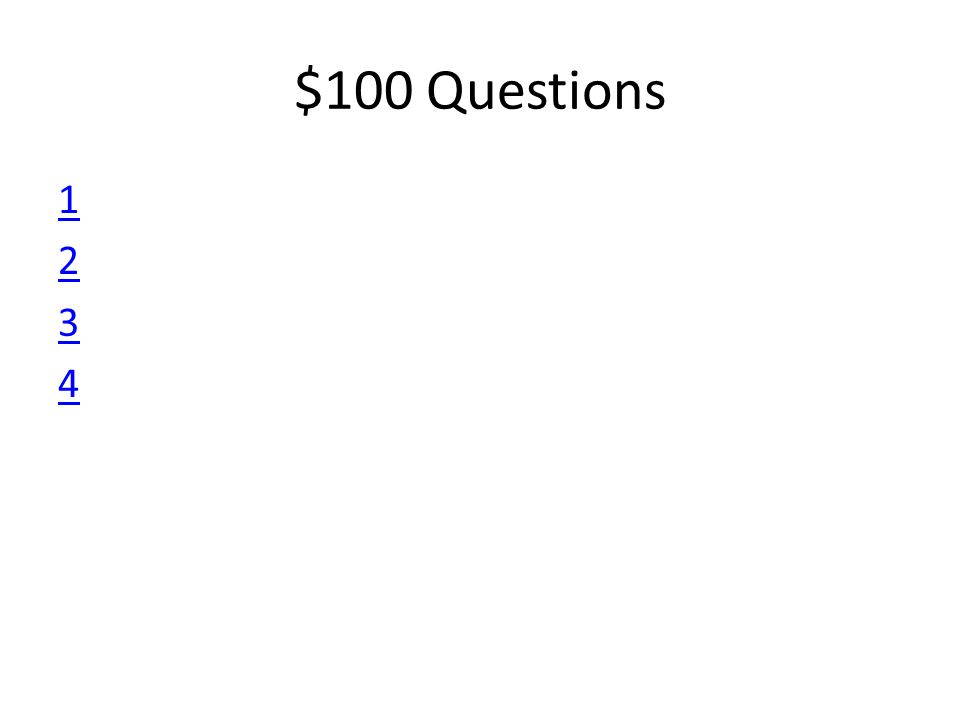 $100 Questions 12341234