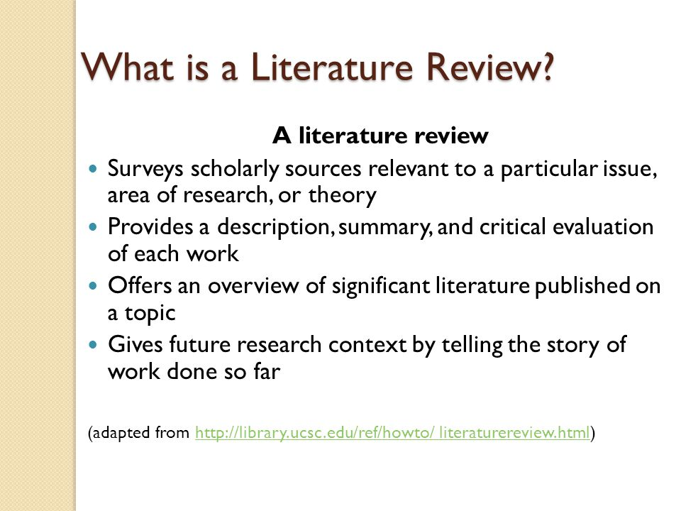what is related literature in thesis