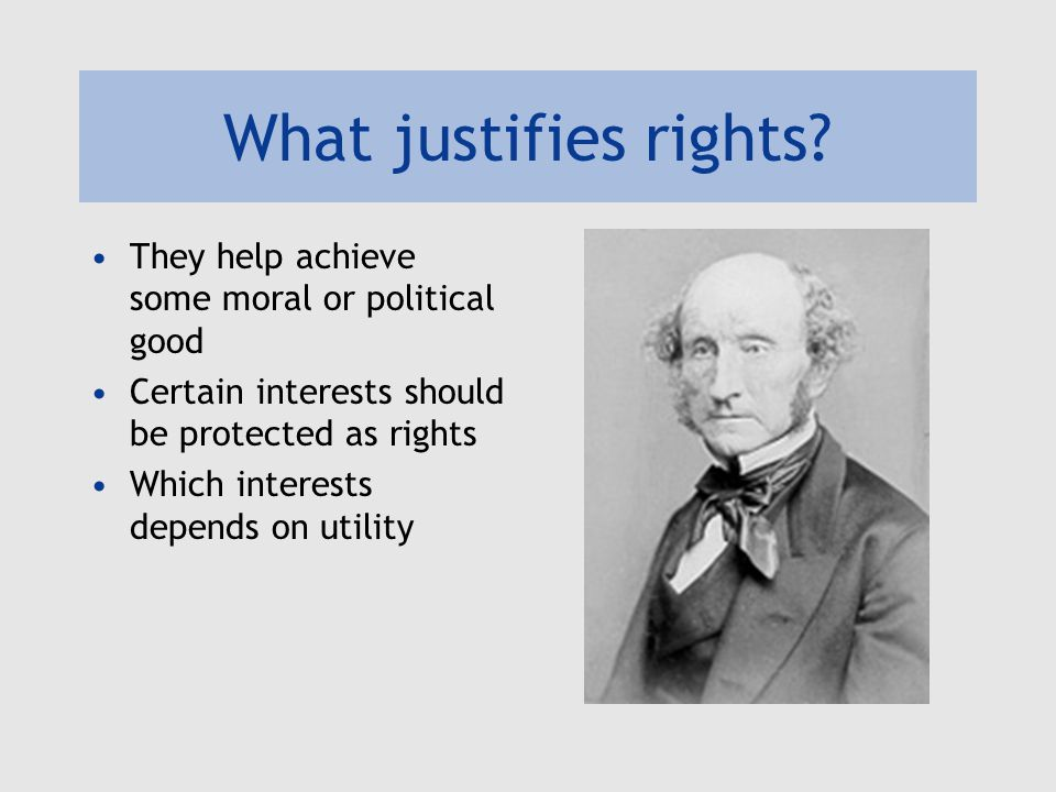 What justifies rights.
