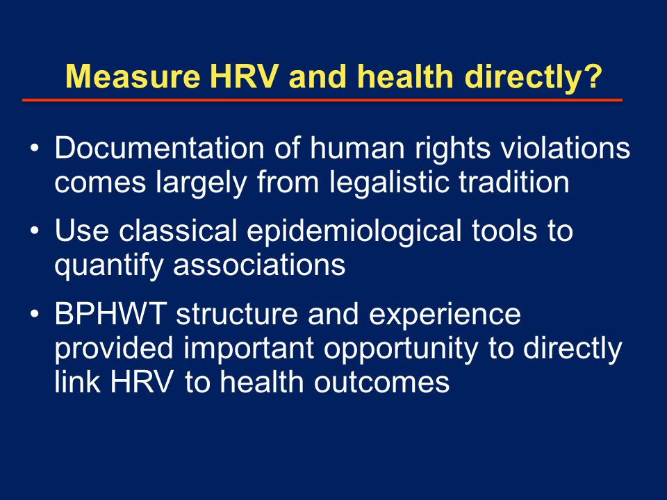 Measure HRV and health directly.