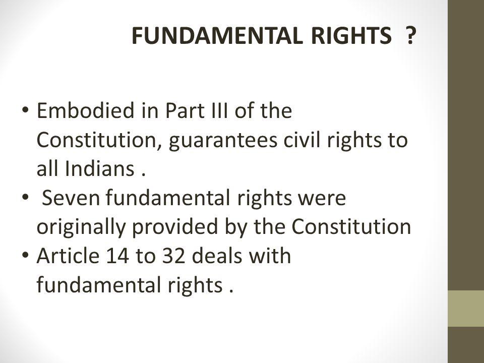 FUNDAMENTAL RIGHTS .