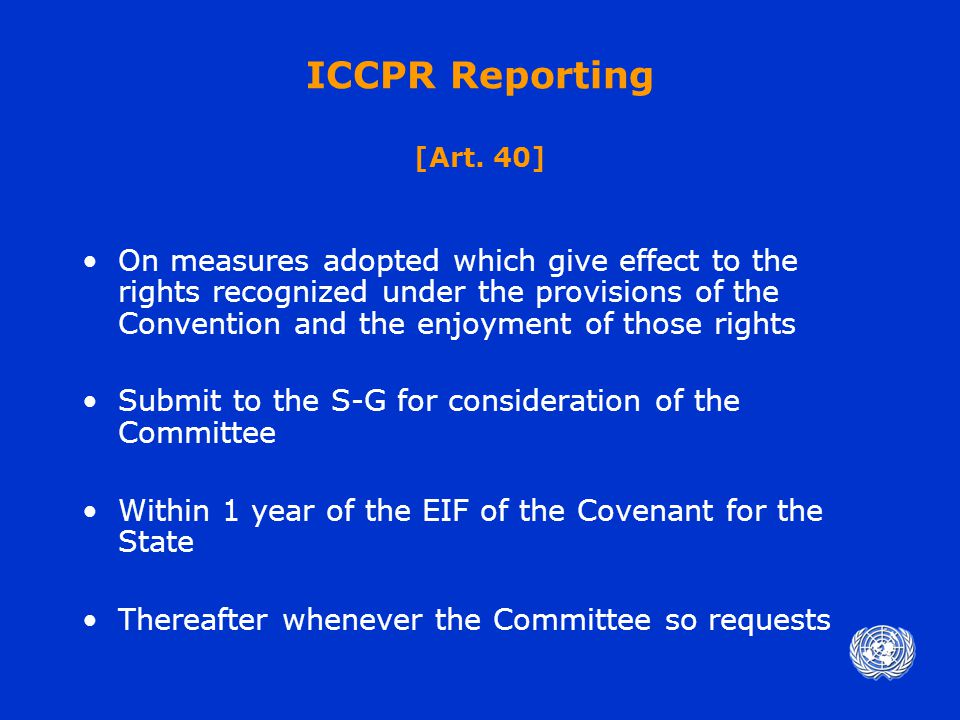 ICCPR Reporting [Art.