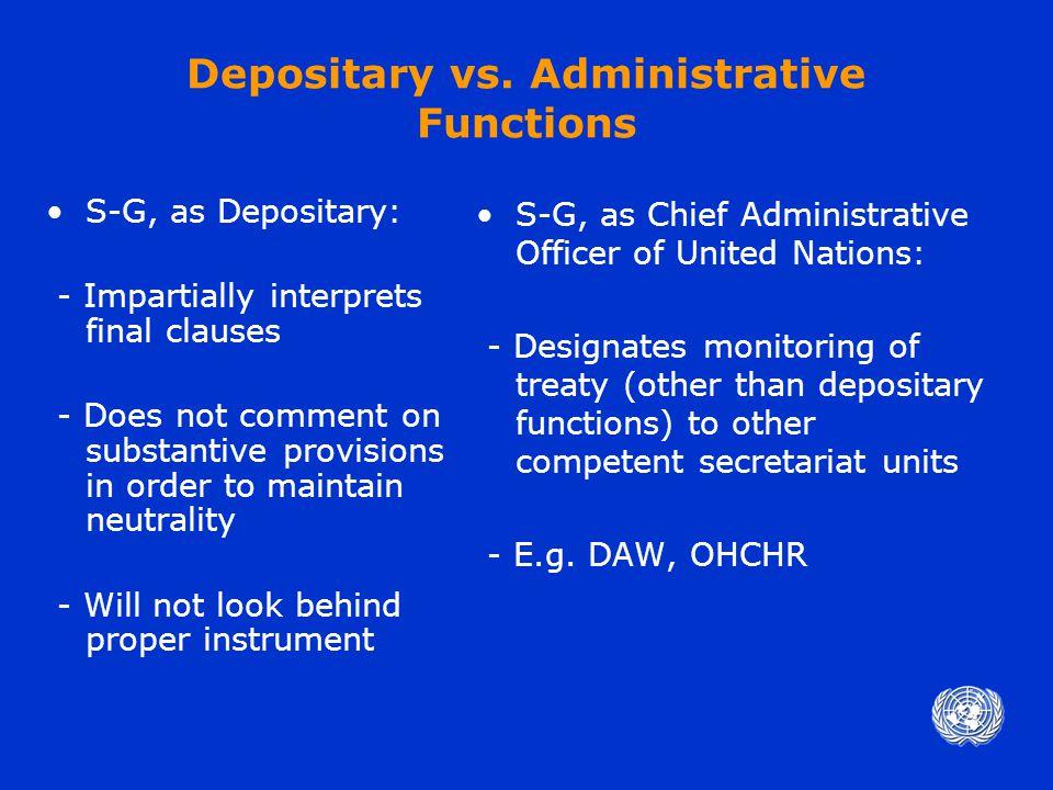 Depositary vs.