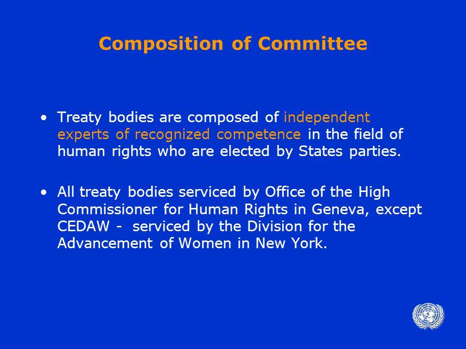 REPORTING PROCEDURES What does the Committee do.
