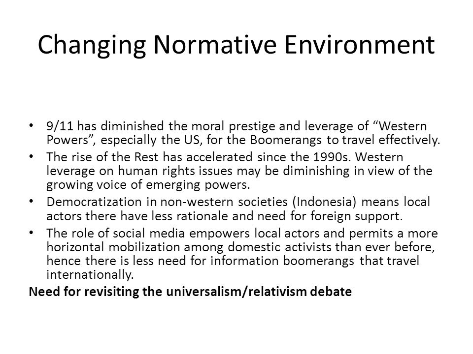 Revisiting the Universalism/Relativism Debate whose universalism.