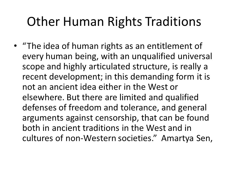 Relativism of Western Universalism the so-called universalism is actually a major example of relativism of sorts.