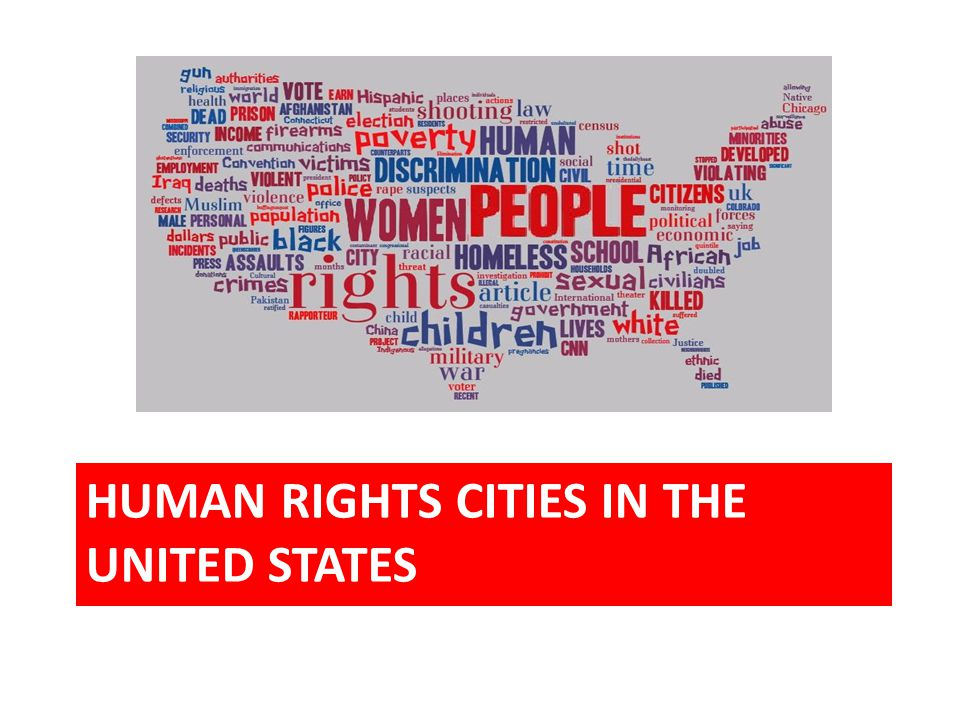 HUMAN RIGHTS CITIES IN THE UNITED STATES