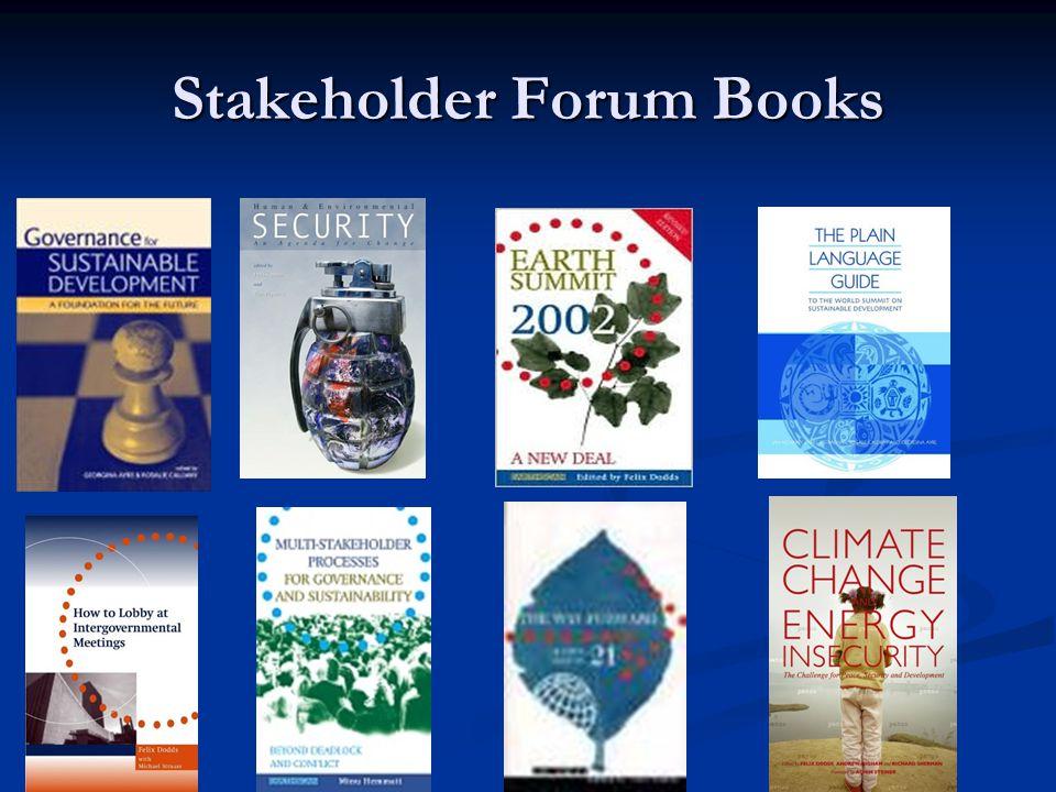 Stakeholder Forum Books