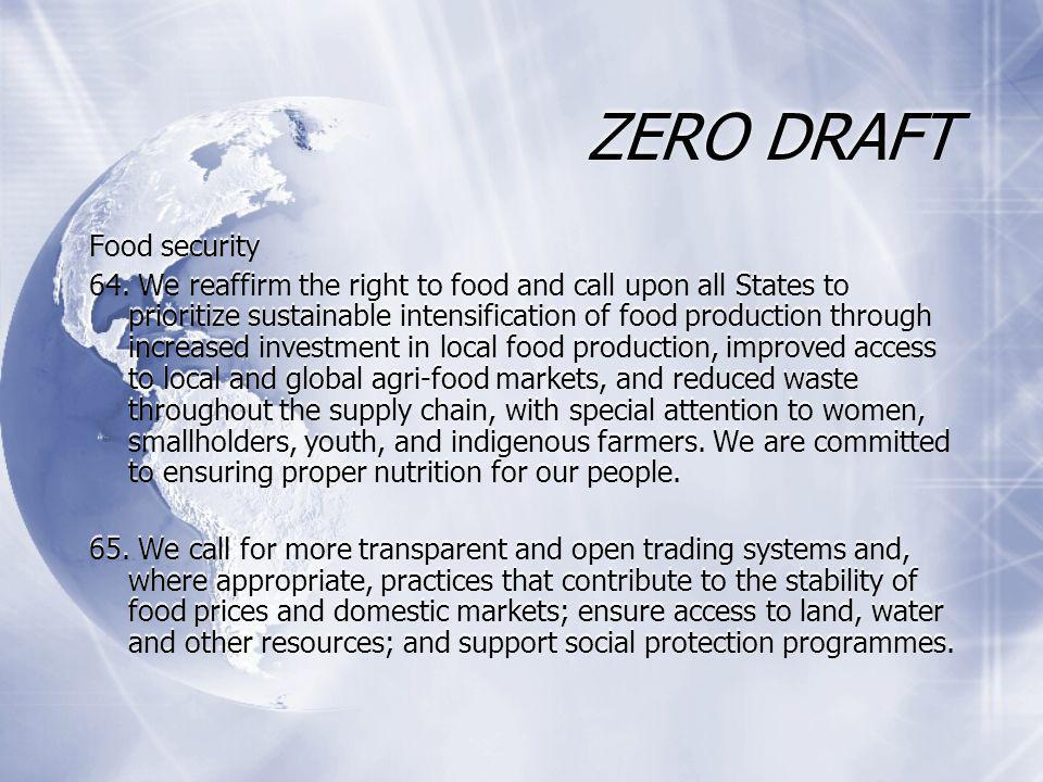 ZERO DRAFT Food security 64.